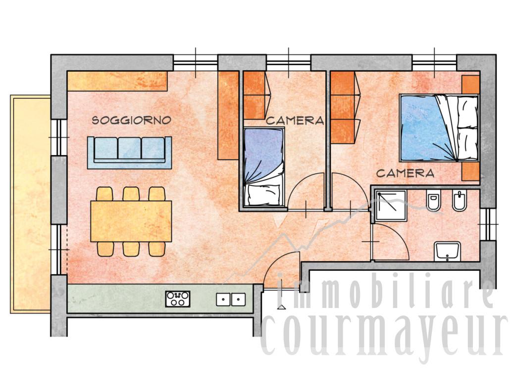 Morgex la ruine appartamenti nuovi 70 110 mq for Planimetrie dell appartamento seminterrato