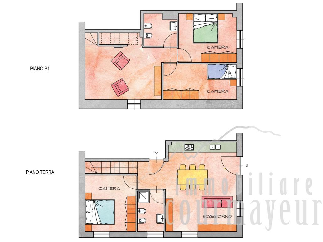 Morgex la ruine appartamenti nuovi 70 110 mq for Pianta dell appartamento da 300 piedi quadrati